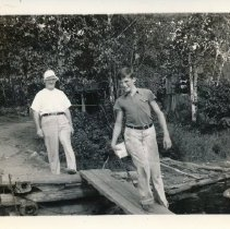 Image of George and Lloyd on the Dock
