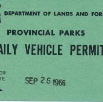 Image of 1966 Daily Vehicle Permit