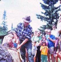 Image of 1971 - F. Luckasavitch Squaring Log