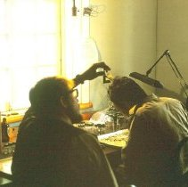 Image of Skobe and Loch in the lab room