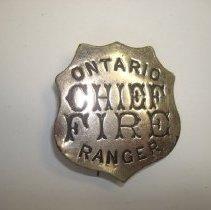 Image of Badge, Identification - Chief Fire Ranger Badge