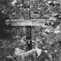 Image of 12 - The grave of Emile Huard of de Gascon, Quebec who died on the 12th of June, 1903 at the age of 29 years.