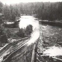 Image of 24 - View from the dam at the top of a log flume on the Petawawa.