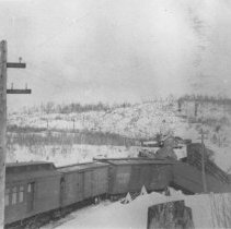 Image of 27 - Grand Trunk Railway way freight crash westbound from Madawaska to Depot Harbour, March 17, 1913.