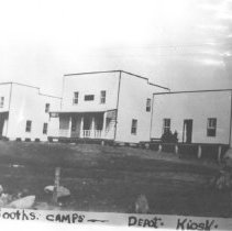 Image of 34 - J.R. Booth Lumber Company camps at Kiosk, 1923.