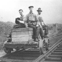 Image of 38 - Grand Trunk Railway section gang at the west switch of Canoe Lake Station, May 14, 1916.