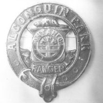 Image of 111 - The first model of the Algonquin Park Ranger's badge.