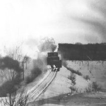 Image of 118 - A Grand Trunk Railway snowplow clearing the tracks from Ottawa to Parry Sound.