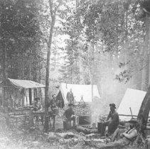 Image of 148 - W.S. Cranston's Survey Camp, No. 1, Cache Lake.