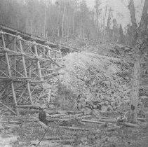 Image of 152 - Wooden trestle.
