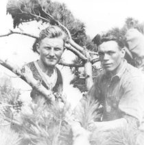 Image of 1927?, 1923-24 - Fire rangers, Max Hubert and Aubrey Dunne.