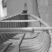 Image of The inside of a canoe.
