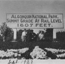 Image of 1927 - Sign at Summit Grade, Algonquin National Park.
