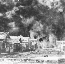 Image of 1911 - South Porcupine burning, July 11, 1911.