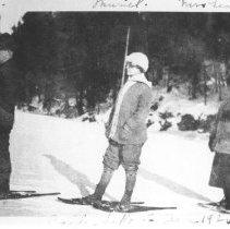 Image of 267 - J. W. Millar,  Muriel Millar, Mrs. Gervais, Cache Lake.