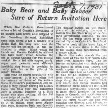 Image of 271 - Baby Bear and Baby Beaver Sure of Return Invitation Here.
