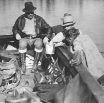 Image of 333 - New York Press Party Fishing Trip at the narrows on Opeongo Lake.