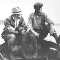 Image of 339 - E. Alston (left) and George Heintzman (right) on New York Press Party Fishing Trip..