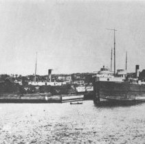 "Image of ca. 1920 - The ""Kearsage"", ""Arthur Orr"", and ""George N. Orr"" at Depot Harbour."
