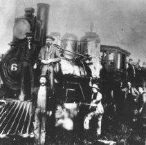 Image of 1976.95.20 - Construction Company Locomotive #60 on Canada Atlantic Railway.