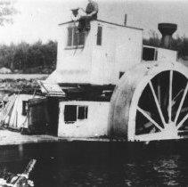 Image of 414 - J.R. Booth Company alligator at Bay Lake, Latchford, Ontario.