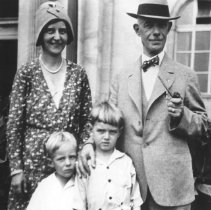 Image of 432 - Superintendent J.W. Millar with his wife Murielle and their children at the Canadian National Exhibition.
