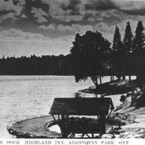 """Image of 506 - """"Canoe Dock, Highland Inn, Algonquin Park, Ont."""""""