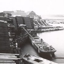 Image of 556 - Large barges, Ottawa - J.R. Booth