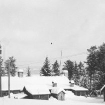 Image of 1955 - Rear view of Lodge and office building, Traverse Lodge