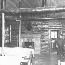 Image of 614 - Lounge in lodge, Lake Traverse camp.