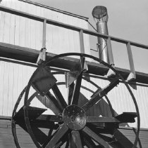 "Image of 643 - Close up of side paddle wheel on the ""William M"""