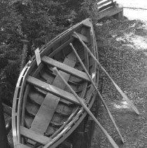 Image of 652 - Pointer boat - Pioneer Logging display. Algonquin Park, October 28, 1970.