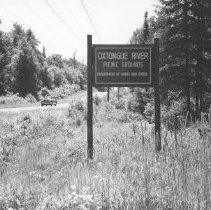 Image of 675 - Oxtongue River Picnic Grounds Sign, July 1958.