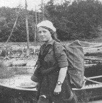 Image of 764 - Girl - on canoe trip.