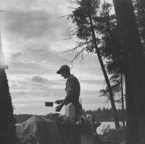 Image of 828 - Supper Time, Canoe Lake, 1954.
