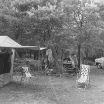 Image of 833 - Campsite, Kearney Lake Campground, 1960.