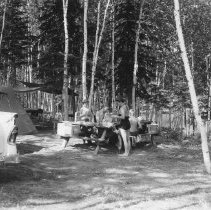 Image of 839 - Campground, Coon Lake, 1960.