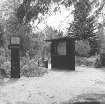 Image of 850 - Entrance to Pioneer Logging Exhibit, 1963.