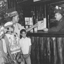 Image of 855 - Pioneer Logging Exhibit, 1963, Frank Brick - in booth