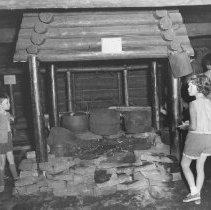 Image of 862 - Camboose Camp, Pioneer Logging Exhibit, 1963.