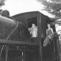 Image of 867 - Locomotive, Pioneer Logging Exhibit, 1963.