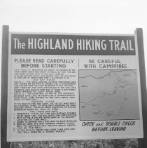 Image of July 1963 - The start of Highland Hiking Trail, showing the original entrance on the airfield, July 1963.