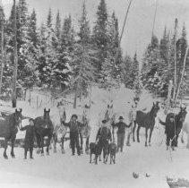 Image of 1058 - Algonquin Logging camp, 1911.