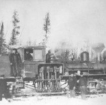 Image of 1912 - Locomotive - old Logging Ops. - 1912, Diver, Ont.