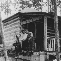Image of 1132 - Cabin at Grand Lake, sign painted by Tom Thomson, artist, Algonquin Park.