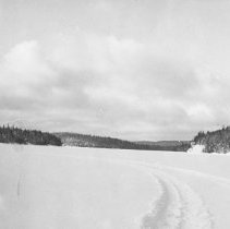 Image of January, 1955 - East view of Lake Traverse from Traverse Lodge