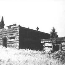 Image of August, 1956 - Remains of a building, Burntroot Lake