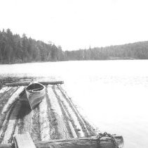 Image of 1934 - Wharf at end of Burnt Island Lake