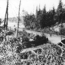 Image of 1913-14 - Log chute from Dog Lake (Carl Wilson Lake) to Little Cauchon Lake, 1913-14.