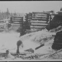 Image of 1403 - Dam at the foot of Cedar Lake.